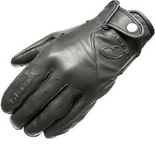 BLACK STATIC LEATHER CLASSIC VINTAGE FASHION MOTORCYCLE BIKE GLOVES GHOSTBIKES