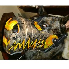 Custom Painted Dog Muzzle Police K9 Military