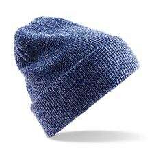 BEECHFIELD Unisex Heritage Vintage Double Knit Turn Up Beanie Hat - 12 Colours