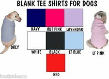 BLANK  CLOTHING TEE SHIRTS  FOR DOGS  NEW