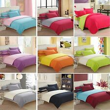 NEW Pure Cotton Single/Double/Queen/King Size Bed Quilt/Doona/Duvet Cover Set