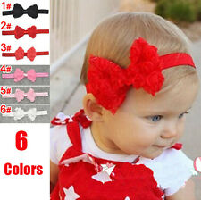 Kids Baby Girl Toddlers Lace Flower Hair Band Bow Headbands Accessories