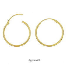 18kt Gold Plated Sterling Silver Top Hinged Sleeper Hoop Earrings Conncetor 20mm