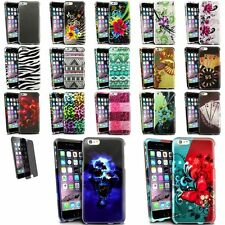 Colorful Rubberized Design Cover Case+Privacy Protector For iPhone 6 Plus 5.5""