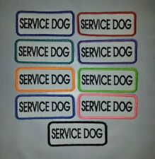 """U Pick 1 """"Fun Colors"""" Sew-On Embroidered Patch - MID SIZE SERVICE DOG 1 1/4 x 3"""""""