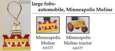 Minneapolis Moline tractor fobs, various designs & keychain options