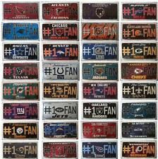 # 1 FAN LICENSE PLATE NFL FOOTBALL VANITY METAL EMBOSSED SIGN AUTO CAR TRUCK