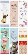 2015 Bookmark Calendar Christmas Gift Tear Off Cute Funny Cats Dogs Angels Hugs