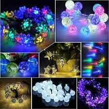 Colorful Solar Power/Battery Garden String Lights LED Decor Outdoor Garden Yard