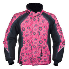 Girls Youth Mossi Circles Snowmobile Jacket Snow Coat Winter Pink w/ Circles