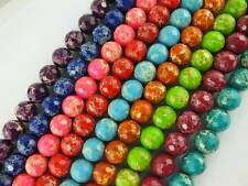 """14mm Natural Round 128 Faceted Imperial Jasper Gemstone Beads 16"""""""