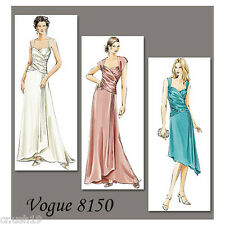 V8150 Vogue Sewing Pattern Formal Evening Gowns Dresses New Year's Party
