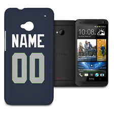 NFL Seattle Seahawks Personalized Phone Hard Shell Case for HTC One M7 Mini De..