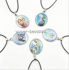 Mixed 5Style Anna Elsa Stainless Steel Pendant Necklace Child XMAS Gift