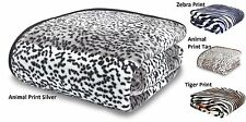 Faux Fur Animal Print Throws Blankets Raschel Warm Soft Catherine Lansfield