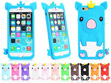 "New 3D Cartoon Pig Soft Silicone Back Case Cover for 4.7"" iPhone 6"