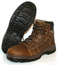 MENS CAT CATERPILLAR DIMEN Hi SB STEEL TOE CAP SAFETY BOOTS - Dark Beige