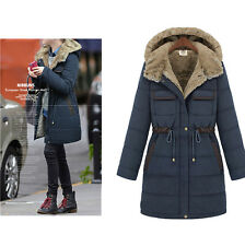 Women's Warm Winter Thicken Coat Hood Parka Overcoat Long Jacket Outwear New