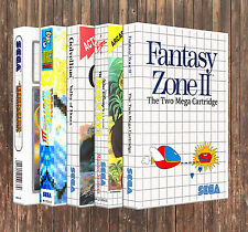 L - W: SEGA Master System Case *YOU PICK TITLE!* New Custom Box ONLY *NO GAME*