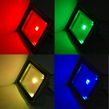 Led Flood Light 10W 20W 30W 50Watt RGB Color LED Outdoor Lighting Remote Control