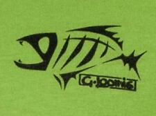 G LOOMIS LIME & BLACK MEDIUM-3XL CORPO SHORT SLEEVE TEE T-SHIRT