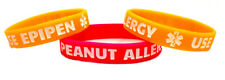 Child/Youth/Small Adult Peanut Allergy Use Epipen Silicone Bracelet
