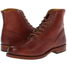 """$398 Frye """"Arkansas"""" Brogue, Men's Lace-Up Ankle Boots, Whiskey, Made in U.S.A."""