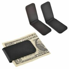 New Genuine  Leather Magnetic Slim Pocket Money Clip Holder USA Seller