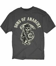 SONS OF ANARCHY SOA  GRIM REAPER CHARCOAL BIKER GOTHIC TATTOO ROCK T SHIRT S-3X
