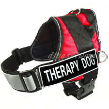 Service Dog Harness Reflective Padded label Patch IN TRAINING THERAPY DOG Vest