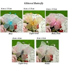50 Glittered Nylon Butterfly Wedding/Party Decorations Multiple Sizes