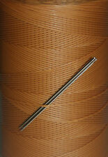 STRONG RITZA WAXED HAND SEWING THREAD FOR LEATHER/CANVAS  & 2 NEEDLES - TAN