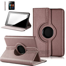 360 Rotating PU Leather Magnetic Case Cover W Stand For Amazon Kindle Fire 7""