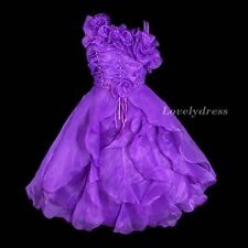 NEW Flower Girl Wedding Pageant Party Bridesmaid Dress Wears Purple SZ 4-9 Q612