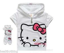 Hello Kitty Pink Suit 1-5 Years Tracksuit Hoodie Shorts Top Outfit Trousers Baby
