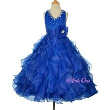 Glitz Rhinestones Sequins Pageant Dress Party Ball Gown Size 2 4 6 8 10 12 FG313