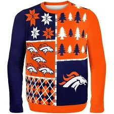 DENVER BRONCOS BUSY BLOCK  UGLY CHRISTMAS SWEATER, HOTTEST NFL ITEM
