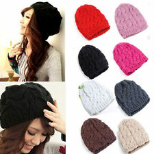 Fashion Womens Ladies Warm Winter Knit Crochet Xmas Ski Cap Beanie Beret Hat 14