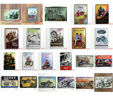 Vintage Metal Sign Tin Motorcycle  Home Bar Pub Garage Wall Decor Poster