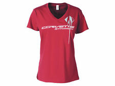 Corvette Ladies C7 Overlay T-Shirt Independence Red