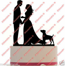 Custom Wedding Cake Topper with your dog choice - Dog Silhouette - Color Choice