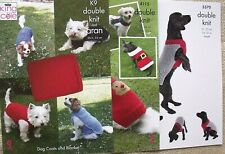 KING COLE PATTERNS 4115 & K9.   DOG COATS FOR COLD DAYS  & FOR CHRISTMAS FUN.