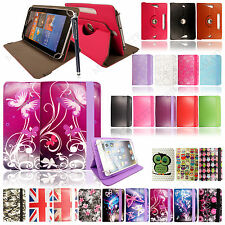 Universal 8 inch Premium Folding PU Leather Stand Case Cover For Tablets +Stylus
