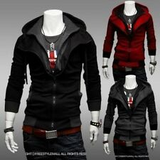 HOT Men's Assassins Creed Cosplay Long Sleeve Sweater Hoodie Jacket Coat Sizes 4