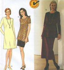 Misses Knit Dress Tunic Skirt Sewing Pattern Sleeve Vary Beginner Choice 7440