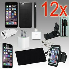 12pcs iPhone 6 Accessories Combo,Leather Case,Armband,Home Car Charger,Earphone