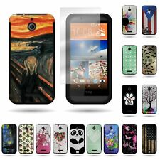 For HTC Desire 510 Soft + Hard Hybrid Design Case Cover + Screen Protector