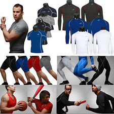 Mens Compression Armour Power Layer Tops Shirts Thermal Gym Sports Pants Tights