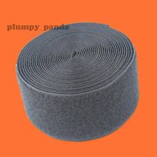 "( Loop Soft ) BLACK Sew on Sticky Roll Strong Fastening Tape 3/4"" 1"" 1.5"" 2"""