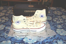 Converse All Star Chuck Taylor High Top (Natural White ) Cream # 9162 New In Box